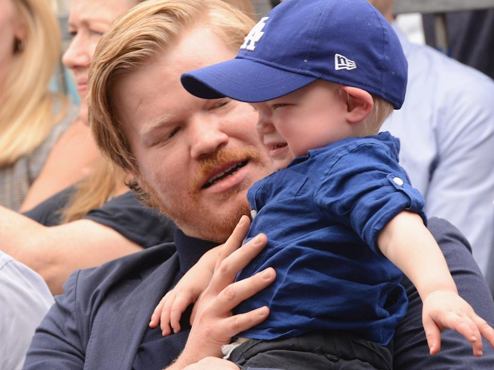 AUGUST 29: Jesse Plemon with son Ennis at mom Kirsten Dunst's Star Ceremony On The Hollywood Walk Of Fame on August 29, 2019 in Hollywood, California.