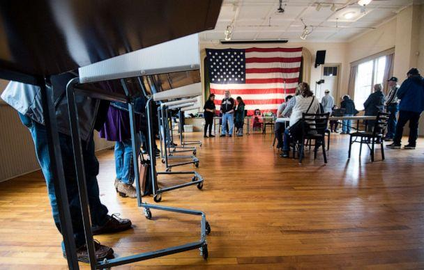 PHOTO: Voters fill out their ballots at the Old Stone School polling location in Hillsboro, Va., on Election Day, Nov. 6, 2018. (Bill Clark/CQ-Roll Call/Getty Images, FILE)