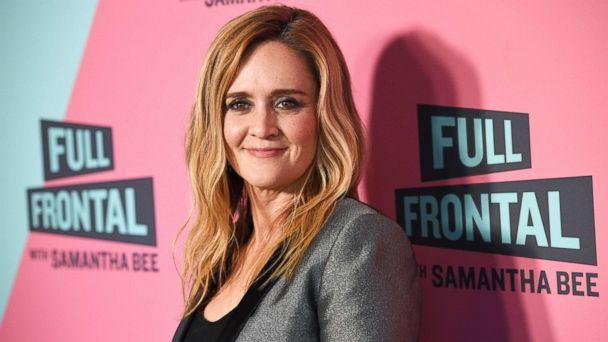 PHOTO: Samantha Bee, host of 'Full Frontal with Samantha Bee,' poses at the Writers Guild Theater, May 24, 2018, in Beverly Hills, Calif. (Chris Pizzello/Invision/AP)