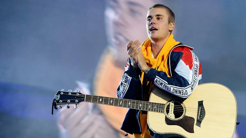 Justin Bieber's first public appearance since canceling tour