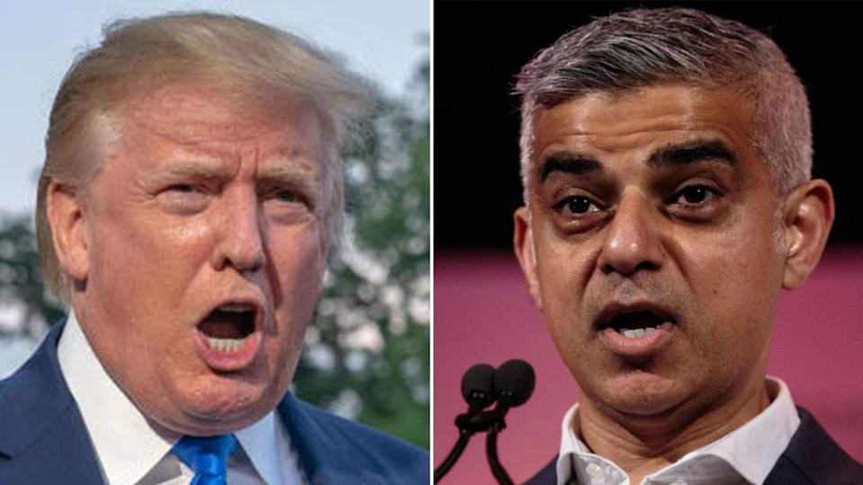 Donald Trump has hit out at Sadiq Khan over the latest stabbings in London