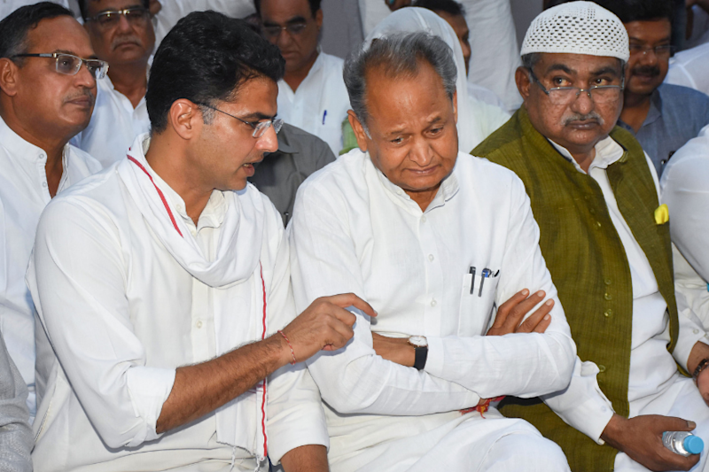 Fissures Exposed in Rajasthan Cong as Sachin Pilot Slams CM Ashok Gehlot Over Law and Order Situation
