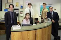 <p>Creed, Kevin, and Dwight all show up dressed as the Joker. Pam, who is working in the New York office, shows up in a Charlie Chaplin costume and is embarrassed to find no one else dressed up. Meanwhile, Darryl and Michael help Holly move to New Hampshire.</p><p><strong>Jim's Costume: </strong>Dave (according to his name tag)</p>