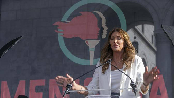 Caitlyn Jenner. (AP Photo/Damian Dovarganes, File)