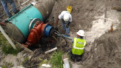 Rangeline installs ductile iron water main for new pump