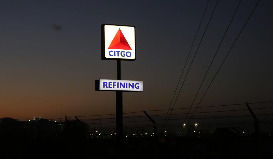 FILE - In this Aug. 21, 2019 file photo, a Citgo refinery is seen in Corpus Christi, Texas. The Trump administration on Wednesday, Dec. 23, 2020, extended a measure blocking holders of crisis-torn Venezuela's debt from liquidating its U.S.-based Citgo refineries as payment. (AP Photo/Eric Gay, File)