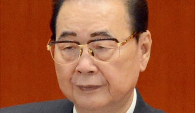 Li was accused of leading the crackdown on the pro-democracy movement in Tiananmen Square. Photo: Kyodo