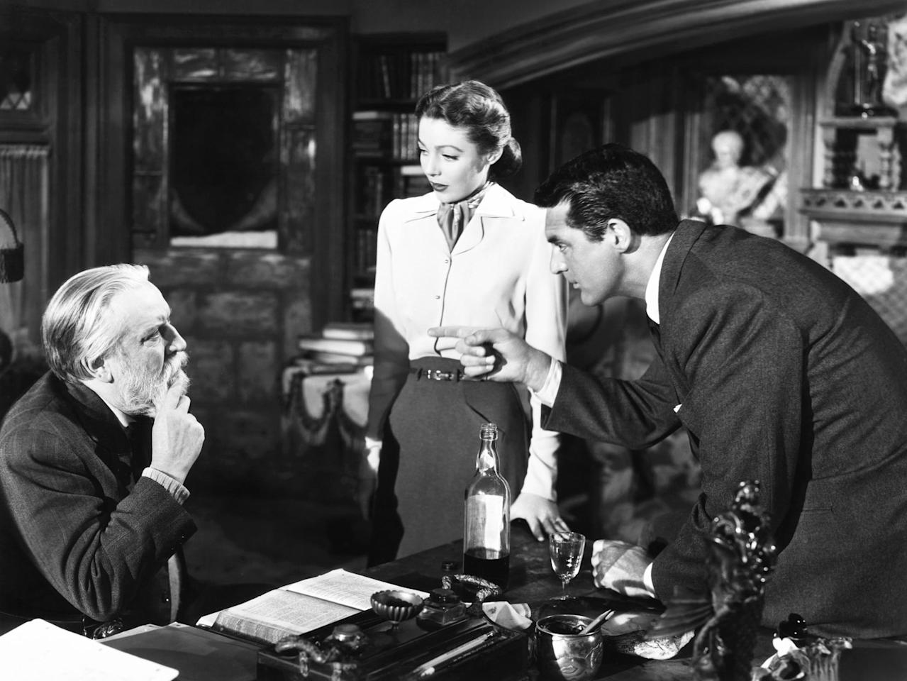 """<p>A bishop (David Niven) receives guidance from an angel (Cary Grant) as he struggles to build a new cathedral. As it turns out, though, the angel isn't there for architectural advice but to help the man save his marriage. (Yes, this is the movie that inspired your favorite Whitney Houston/<a class=""""sugar-inline-link ga-track"""" title=""""Latest photos and news for Denzel Washington"""" href=""""https://www.popsugar.com/Denzel-Washington"""" target=""""_blank"""" data-ga-category=""""Related"""" data-ga-label=""""https://www.popsugar.com/Denzel-Washington"""" data-ga-action=""""&lt;-related-&gt; Links"""">Denzel Washington</a> movie, 1996's <strong>The Preacher's Wife</strong>.) </p> <p><a href=""""http://www.netflix.com/title/309541"""" target=""""_blank"""" class=""""ga-track"""" data-ga-category=""""Related"""" data-ga-label=""""http://www.netflix.com/title/309541"""" data-ga-action=""""In-Line Links"""">Watch <strong>The Bishop's Wife</strong> on Netflix.</a></p>"""