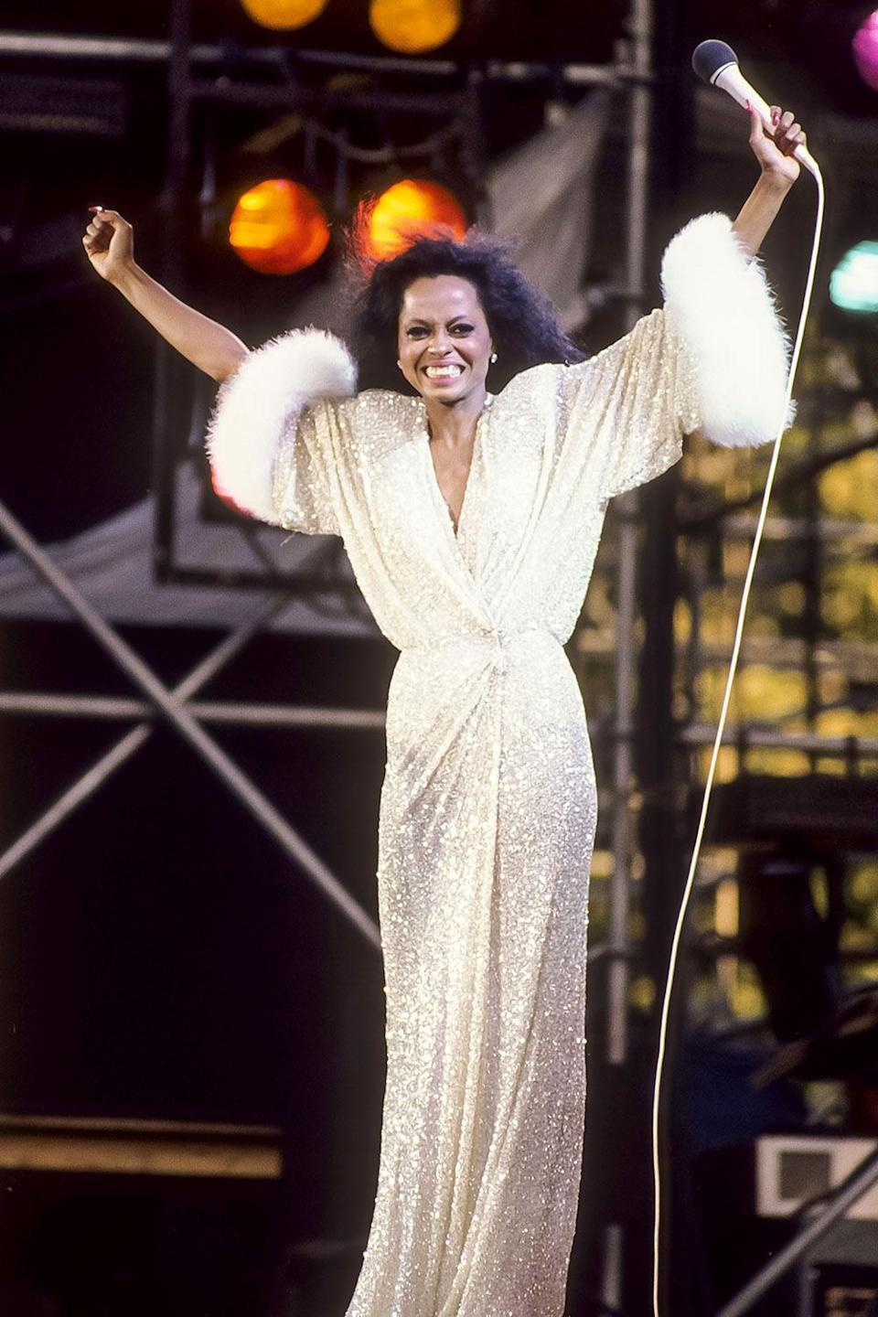<p>Happy Birthday, Diana Ross! The singer turns 77 today and through her decades-long career, she's blessed us with some of the most gorgeous, iconic looks Hollywood has ever seen. Here, a look back at 20 of our favoties.</p> <p>At right, performing in New York City's Central Park in July 1983.</p>