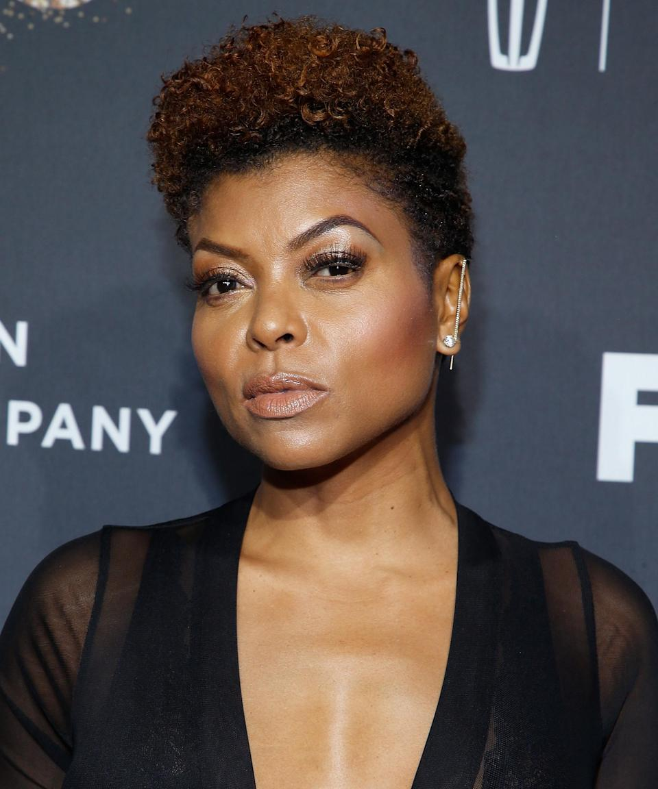 """<strong><h2>Taraji P. Henson</h2></strong>Henson has never let herself feel pinned down by a """"signature"""" look before, but if we had to pick one of our favorites, it would be her <a href=""""https://www.refinery29.com/en-us/2018/04/196904/taraji-p-henson-hairstylist-tym-wallace"""" rel=""""nofollow noopener"""" target=""""_blank"""" data-ylk=""""slk:big chop"""" class=""""link rapid-noclick-resp"""">big chop</a> in 2017. To complement the new, short style — the shortest she'd ever gone — Henson highlighted her curls with a reddish hue that looked so good, we still miss it.<span class=""""copyright"""">Photo: John Lamparski/Getty Images.</span>"""
