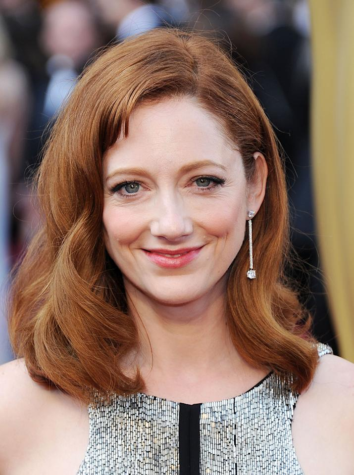Judy Greer arrives at the 84th Annual Academy Awards in Hollywood, CA.
