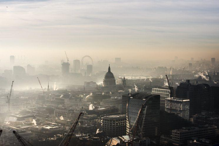 London covered by a haze of air pollution (Getty)