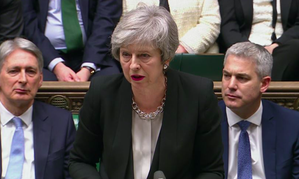 <em>It was a good night for Theresa May as MPs came to a consensus on Brexit (PA)</em>