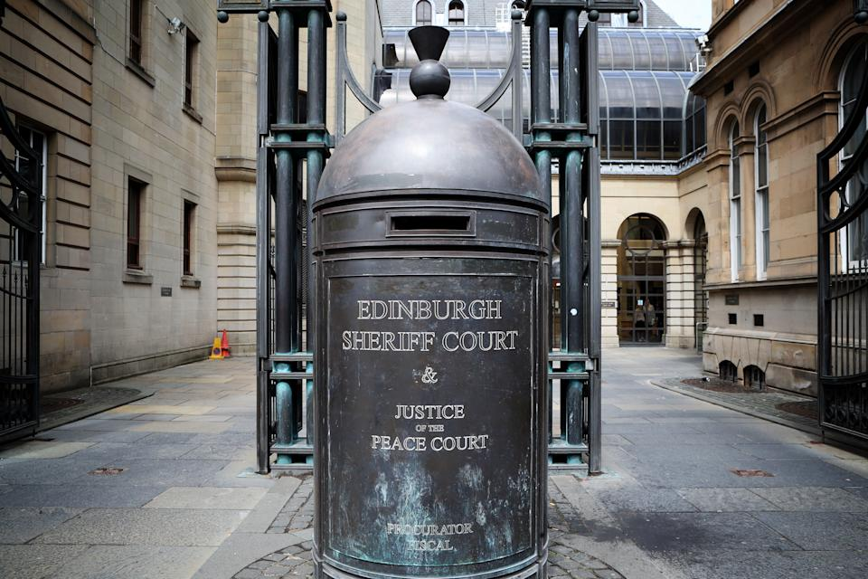 A general view of the main entrance to the Sheriff Court on Chambers Street, Edinburgh.
