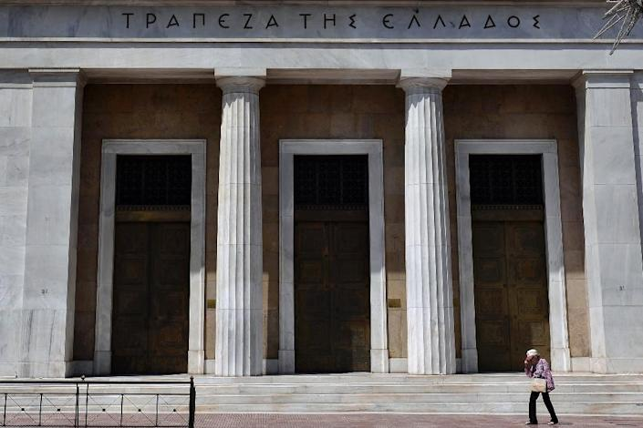 The Bank of Greece has warned that an exit from the eurozone would lead to a deep economic recession (AFP Photo/Louisa Gouliamki)