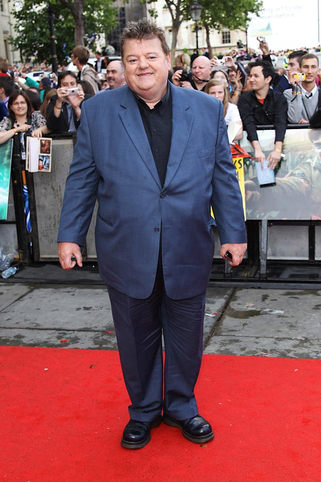 """<a href=""""http://movies.yahoo.com/movie/contributor/1800020819"""">Robbie Coltrane</a> at the London world premiere of <a href=""""http://movies.yahoo.com/movie/1810004624/info"""">Harry Potter and the Deathly Hallows - Part 2</a> on July 7, 2011."""