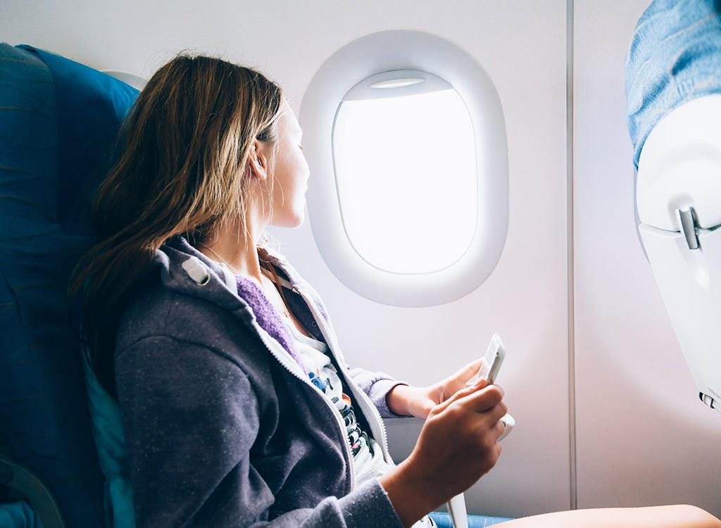 "Studies have shown that ice on airplanes are loaded with harmful bacteria. You don't always get the best food and drink options while <a rel=""nofollow"" href=""https://www.eatthis.com/how-flying-makes-you-fat/"">flying</a>. What can you expect when you're 30,000 feet above ground? If you're lucky, you'll get a bag of pretzels or cookies—and a beverage. But whatever you do, be sure to order your drink without ice. Why? Studies have shown that containers full of ice in airplane beverage carts—including hotels, restaurants, and fast food joints—can be loaded with bacteria. Here are more reasons you want to skip the ice and play it safe on your next trip."