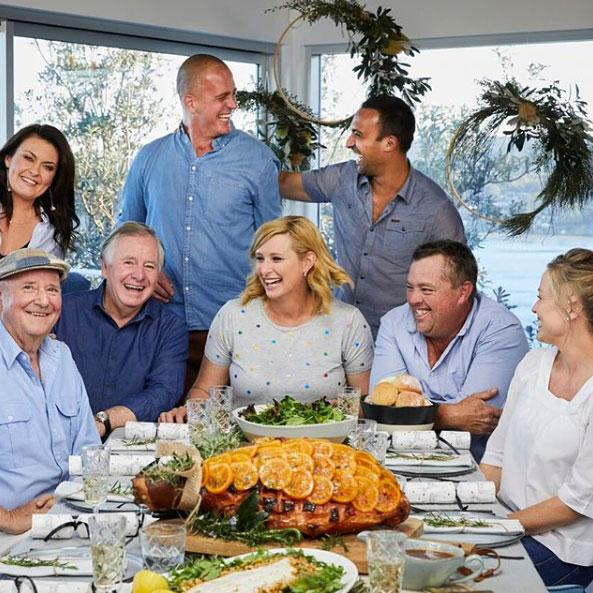 Jason Hodges (second right) with the cast of Better Homes and Gardens.