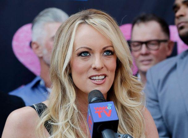 PHOTO: Stormy Daniels speaks during a ceremony in West Hollywood, Calif., May 23, 2018. (Ringo H.W. Chiu/AP, FILE)