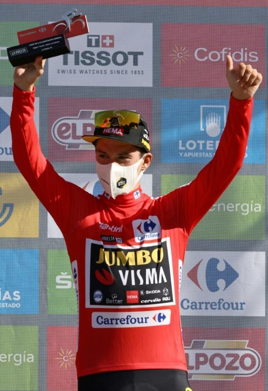 Primoz Roglic leads by just eight seconds
