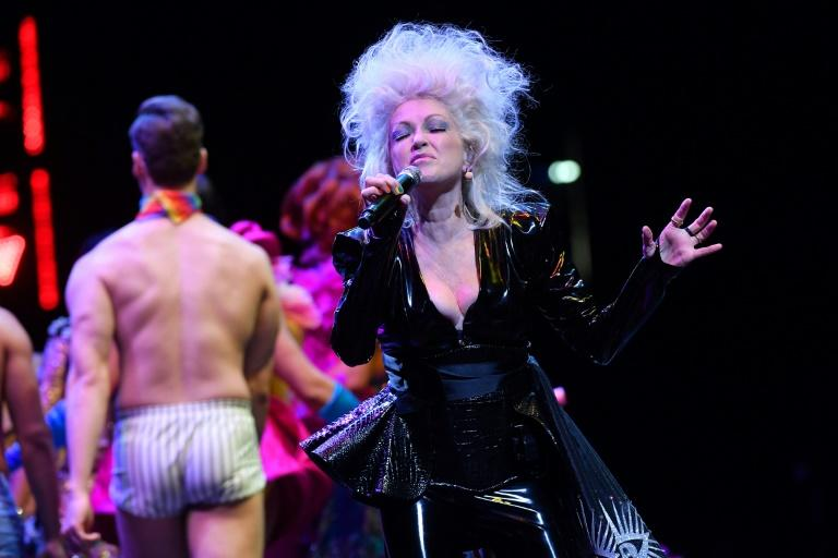 US singer Cyndi Lauper headlined the opening ceremony of World Pride at Brooklyn's Barclays Center