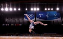 """<p>The Olympian landed her spot in the<a href=""""https://people.com/sports/tokyo-olympics-simone-biles-mykayla-skinner-jordan-chiles-grace-mccallum-cheer-teammates-gymnastics-individual-all-around/"""" rel=""""nofollow noopener"""" target=""""_blank"""" data-ylk=""""slk:individual all-around competition"""" class=""""link rapid-noclick-resp""""> individual all-around competition</a> after her standout performance during the qualifiers, performing an unbelievable routine on the uneven bars that earned her the highest difficulty score in the world.</p>"""