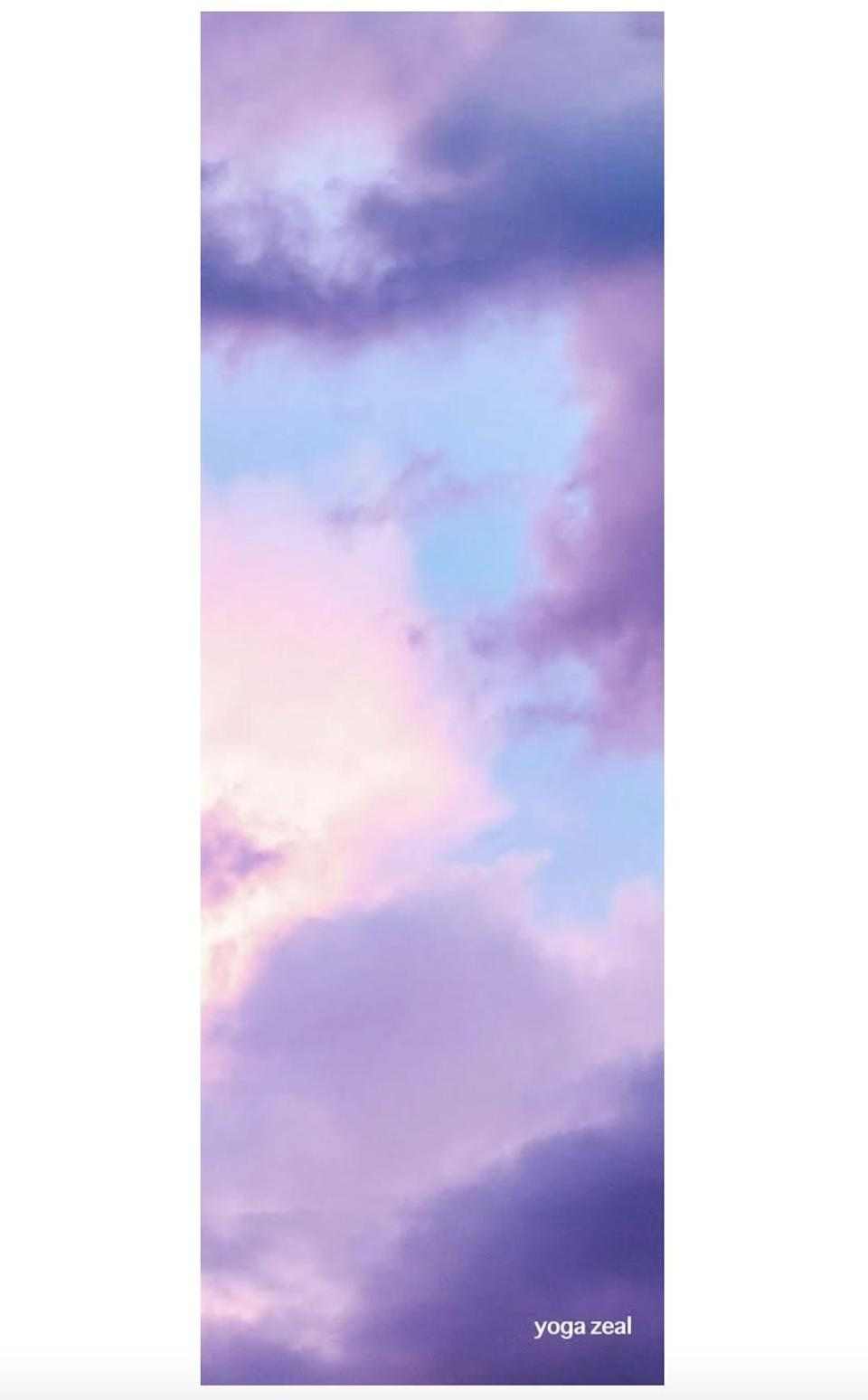 <p>Yoga Zeal offers tons of other beautiful designs, but we particularly love the dreamy <span>Pink and Purple Clouds Mat</span> ($79).</p>