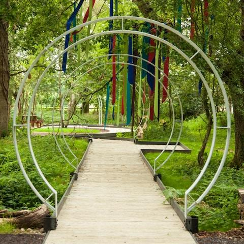 Ann-Marie Powell won the Healing or Learning Garden award - Credit: Features Scan