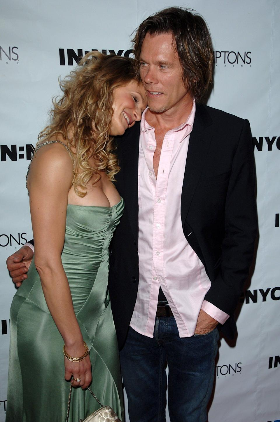 Bacon and Sedgwick arrive at the Hamptons Magazine party held at the Bridgehampton Tennis Club in New York.