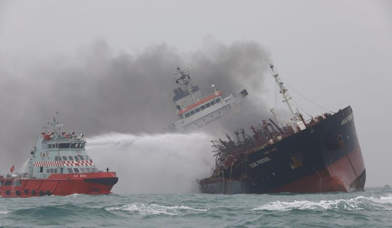 One dead, two still missing after explosion rips through oil and chemical tanker off Hong Kong's Lamma Island