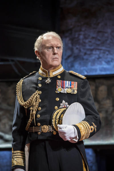 """In this undated handout photo provided by the Almeida Theatre on Friday, April 11, 2014, actor Tim Pigott -Smith is seen in character as Britain's Prince Charles during a scene from the play 'King Charles III' at the Almeida Theatre in London. A new play about Britain's future king is getting rave reviews. Once it would have been theatrical treason. """"King Charles III"""" imagines current heir Prince Charles taking the throne, with catastrophic results. Just a few decades ago, depictions of living British monarchs were banned from the country's stages. (AP Photo/Almeida Theatre, Johan Persson) NO ARCHIVE"""