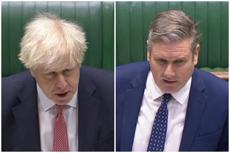 Boris Johnson refused to commit to Sir Keir Starmer's demand to publish the 'scientific basis' behind the 10pm curfew. (Parliamentlive.tv)
