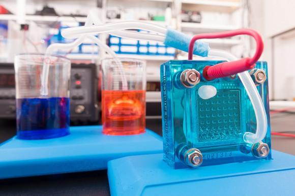 A lab-scale fuel cell demonstration.