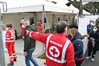 Although some still had doubts, people were filing into a vaccination centre at Rome's Termini station again Friday