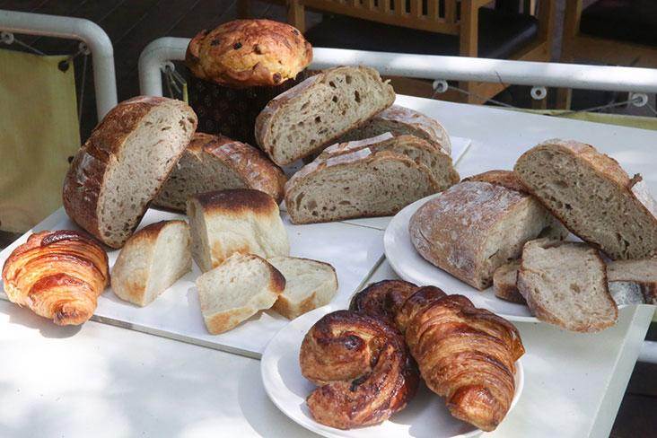 A selection of breads, croissants, rolls and their panettone from Twenty-Two Bakery