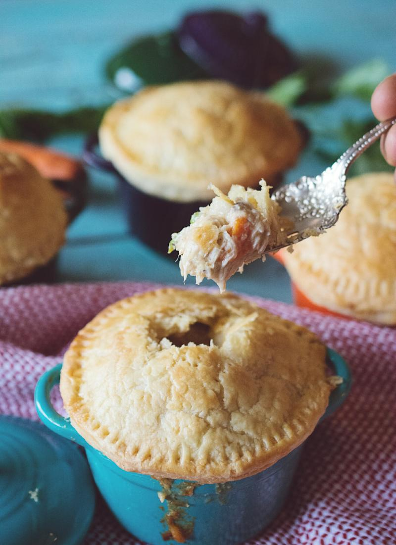 Semi-Homemade Mini Chicken Pot Pies to