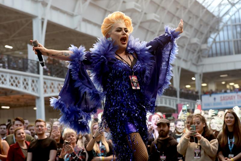 LONDON, ENGLAND - JANUARY 19: Baga Chipz performs onstage at RuPaul's DragCon UK presented by World Of Wonder at Olympia London on January 19, 2020 in London, England. (Photo by Tristan Fewings/Getty Images for World Of Wonder Productions)