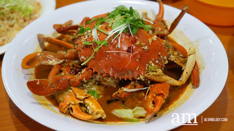 Mala crab at Tian Wei Seafood - they have an aspiration to be the best mala crab restaurant in Singapore