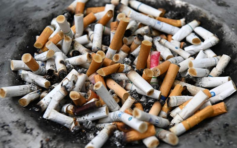 The image was oncigarette and tobacco packets sold in the EU - AFP