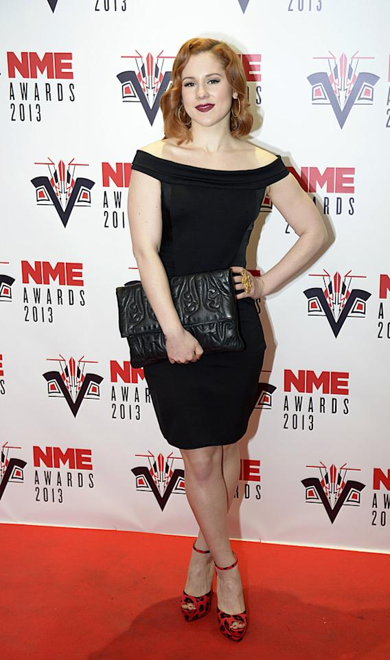 Katy B channeled some Hollywood glamour into her look. Copyright [PA]
