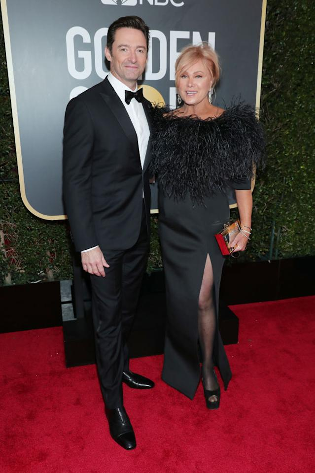<p>The couple, who recently celebrated their 21st wedding anniversary, attend the 75th Annual Golden Globe Awards at the Beverly Hilton Hotel in Beverly Hills, Calif., on Jan. 7, 2018. Jackson was a nominee for Best Performance by an Actor in a Motion Picture — Musical or Comedy for <em>The Greatest Showman</em>. (Photo: Steve Granitz/WireImage) </p>
