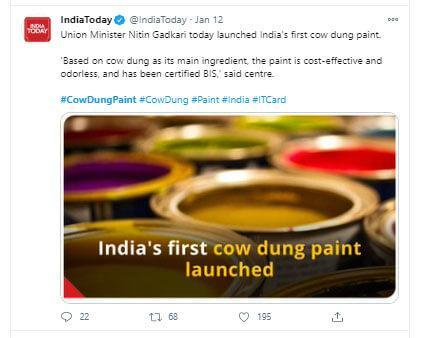 """India's first """"eco-friendly"""" paint"""