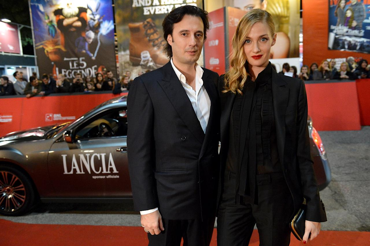 ROME, ITALY - NOVEMBER 14:  Matteo Ceccarini and Eva Riccobono attend the 'E La Chiamano Estate' premiere during the 7th Rome Film Festival on November 14, 2012 in Rome, Italy.  (Photo by Tullio M. Puglia/Getty Images for Lancia)