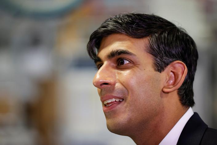 Chancellor Rishi Sunak during his visit to Worcester Bosch factory to promote his 'plan for jobs.' Photo: PA