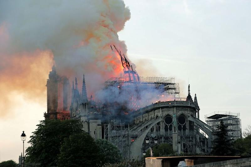 Notre Dame Cathedral fires | IAN LANGSDON/EPA-EFE/Shutterstock