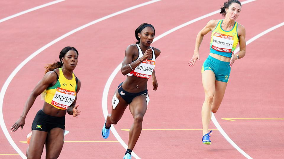 Bianca Williams, pictured here at the 2018 Commonwealth Games in Australia.