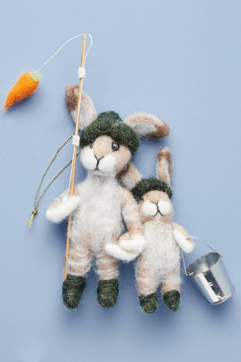 """<p>A great gift to give a dad, the <a href=""""https://www.popsugar.com/buy/Artemis-Fibre-Art-Fishing-Carrots-Ornament-490541?p_name=Artemis%20Fibre%20Art%20Fishing%20For%20Carrots%20Ornament&retailer=anthropologie.com&pid=490541&price=28&evar1=casa%3Aus&evar9=46615300&evar98=https%3A%2F%2Fwww.popsugar.com%2Fhome%2Fphoto-gallery%2F46615300%2Fimage%2F46615412%2FArtemis-Fibre-Art-Fishing-For-Carrots-Ornament&list1=shopping%2Canthropologie%2Choliday%2Cchristmas%2Cchristmas%20decorations%2Choliday%20decor%2Chome%20shopping&prop13=mobile&pdata=1"""" rel=""""nofollow noopener"""" class=""""link rapid-noclick-resp"""" target=""""_blank"""" data-ylk=""""slk:Artemis Fibre Art Fishing For Carrots Ornament"""">Artemis Fibre Art Fishing For Carrots Ornament</a> ($28) is a decoration to cherish. </p>"""