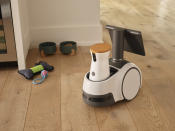 This photo provided by Amazon shows the company's new robot called Astro. (Collin Hughes/Courtesy of Amazon via AP)