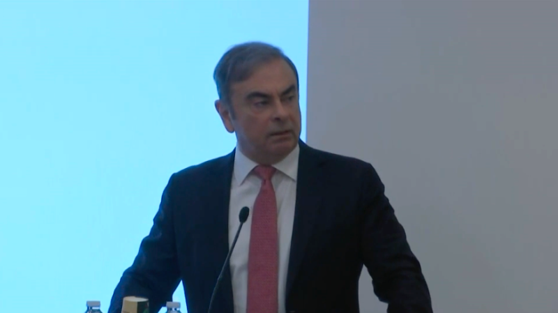 Carlos Ghosn, the former CEO of Nissan and Renault, speaks for the first time since fleeing Japan.