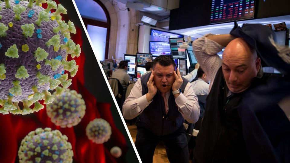 Traders work on the floor of the New York Stock Exchange (NYSE) in New York, U.S., on Thursday, March 12, 2020. The rout in global stocks deepened as investors showed a lack of faith in the U.S. and European policy responses to the worsening spread of the coronavirus. The dollar surged. Photographer: Michael Nagle/Bloomberg via Getty Images